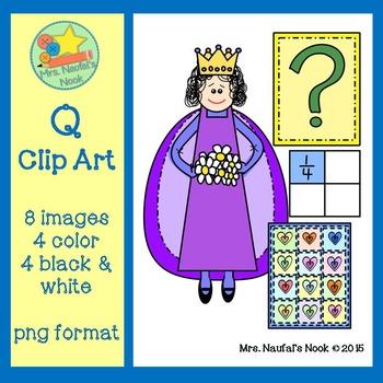 Letter Q Beginning Sound Clip Art