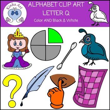 Letter Q Clip Art {Beginning Sounds} Alphabet