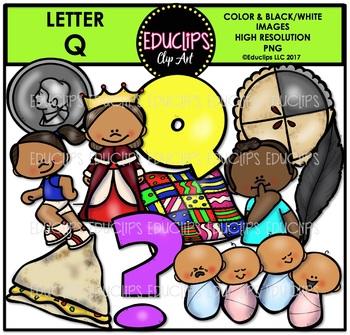 Letter Q Clip Art Bundle {Educlips Clipart}