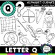 Letter Q Clipart - 20 images! For commercial and personal use!