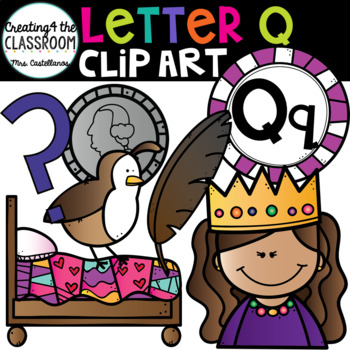 Letter Q Clipart {Alphabet Clip art}