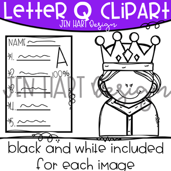 Letter Q Clipart Beginning Sound Clip Art Tpt