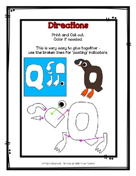 Letter Q Craftivity - Quail - Zoo Phonics Inspired - Color & BW Versions