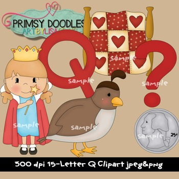 Letter Q Early Learning Clipart