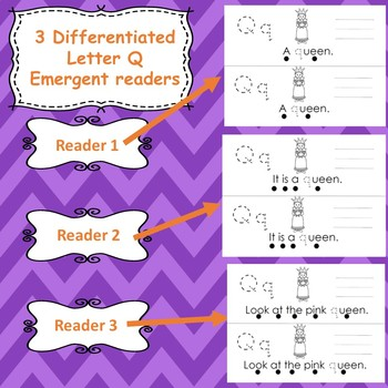 Letter Q activities (emergent readers, word work worksheets, centers)