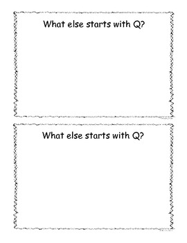 Letter Q Little Reader/Book
