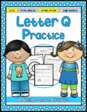 Letter Q Practice Printables