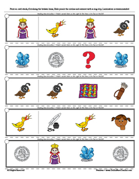Letter Q Reading Discrimination Strips for Fluency and Alphabet Recognition