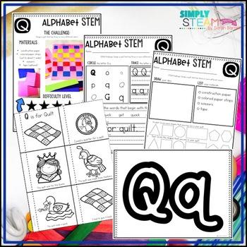 Letter Q STEM Challenge | Letter Q Activities