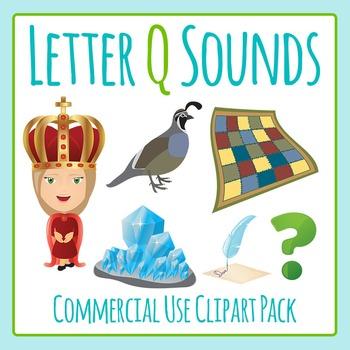 Letter Q Sounds Clip Art Pack for Commercial Uses
