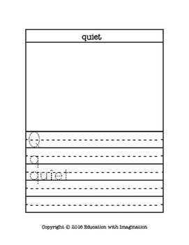 Letter Q Story and Writing Practice