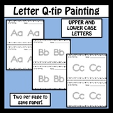 Letter Q-Tip Painting