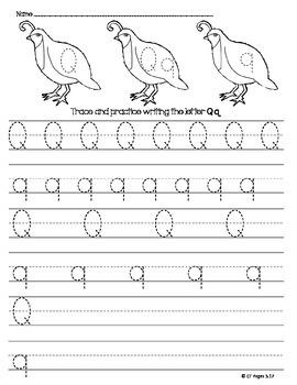 Letter Q Trace
