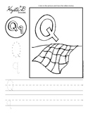 Letter Q Trace and Write Worksheet Pack