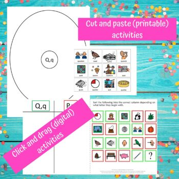 Letter of the Week Letter Q Unit for Special Education