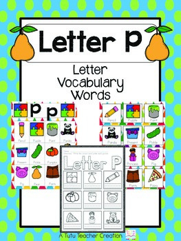 Letter P Vocabulary Cards