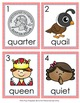 Letter Q Words Write the Room Activity