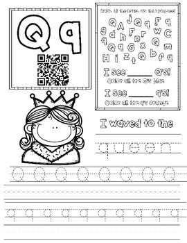 letter q worksheet by miss g 39 s resources teachers pay teachers. Black Bedroom Furniture Sets. Home Design Ideas