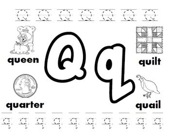Letter Q Sort Worksheets & Teaching Resources | Teachers Pay Teachers