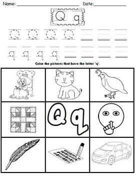 Letter Q Worksheets!