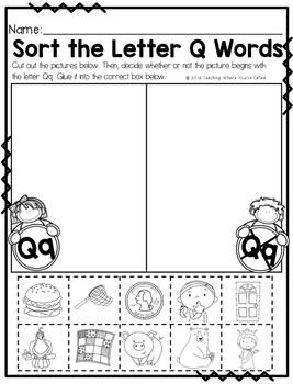 Letter Qq Activity Pack