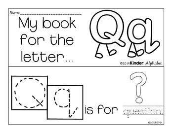 Letter Qq Booklet- Predictable Sentences