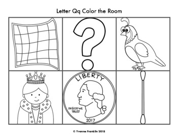 Letter Qq Color, Trace & Write the Room