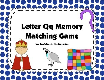 Letter Qq Memory Game
