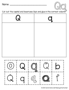 Letter Qq Practice (RTI)