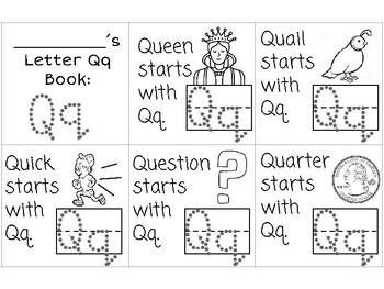Letter Qq booklet