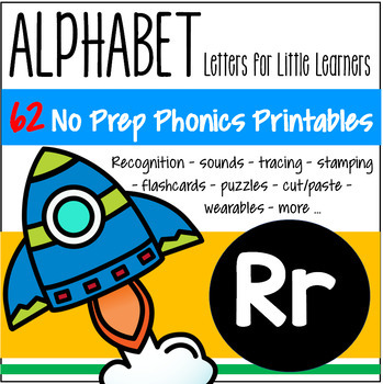 Alphabet R Letter of the Week Phonics Recognition, Sound, Tracing FREE