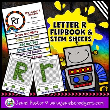 Letter R Alphabet Flip Book (Alphabet Interactive Notebook Activities)