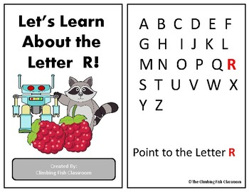 Letter 'R' Adapted Book