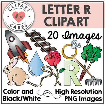 Letter R Alphabet Clipart by Clipart That Cares
