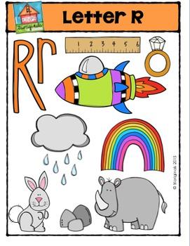 Letter R Alphabet Pictures {P4 Clips Trioriginals Digital Clip Art}