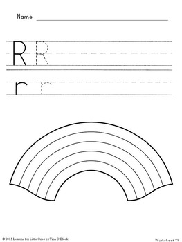 Letter R Unit - Differentiated Letter Writing Pages & Activities