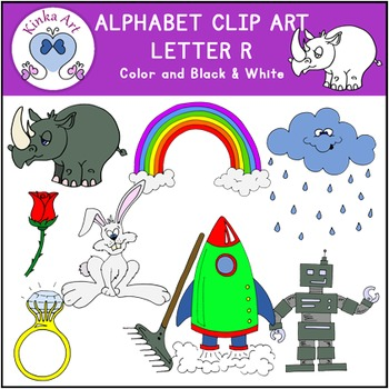 Letter R Clip Art {Beginning Sounds} Alphabet