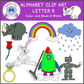 Letter R Clip Art {Beginning Sounds} Alphabet