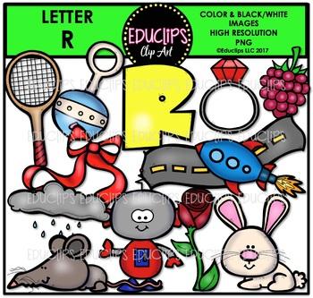 Letter R Clip Art Bundle {Educlips Clipart}