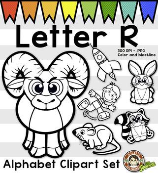Alphabet Clip Art: Letter R Phonics Clipart Set - Clip Art