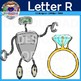 Letter R Clip Art (Run, Rose, Robot, Rabbit, Ring, Rocket)
