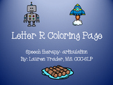 Initial /r/ Articulation Coloring Page