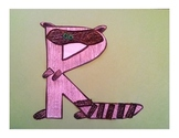 Letter R Cut/Paste Craft Template - R is for Raccoon!