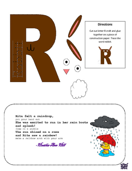 Letter R Cutout Crafts