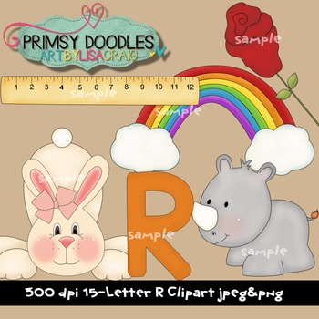 Letter R Early Learning Clipart