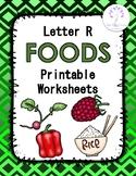Letter R Foods Printable Worksheets