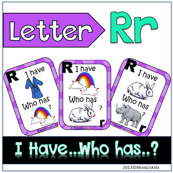 """Letter R  """"I have... Who has?"""""""