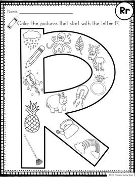Letter R - Letter of the Week R - Letter of the Day - R