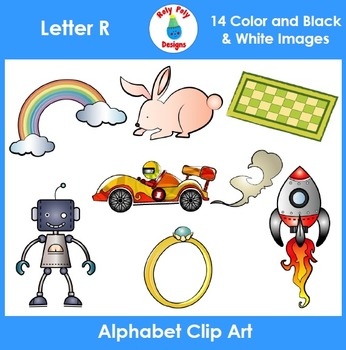 Letter R Phonics Clip Art Set