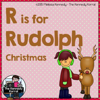 Letter R is for Rudolph {Christmas}